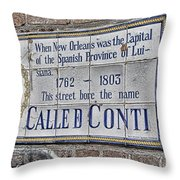 A Street Called Conti Throw Pillow
