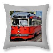 A Street Car Named Castro Throw Pillow