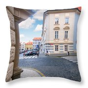 A Street In Prague Throw Pillow