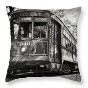 A Streetcar Named St Charles Throw Pillow