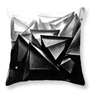 A Structure Rises Throw Pillow