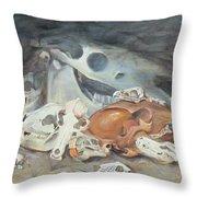 A Study Of Skulls Throw Pillow
