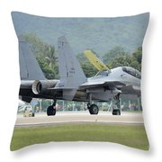 A Sukhoi Su-30mkm Of The Royal Throw Pillow