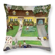 A Summer Day Throw Pillow