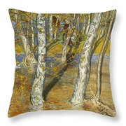 A Summer Day On A Norwegian Fjord Throw Pillow by Hans Dahl
