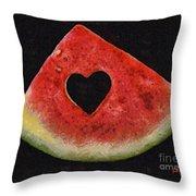 A Summer Valentine's Day Throw Pillow