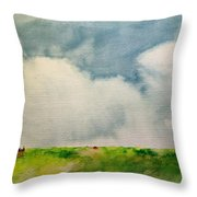 A Summerday Throw Pillow