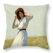 A Summe's Day Throw Pillow