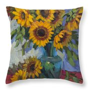 A Sunflower Day Throw Pillow
