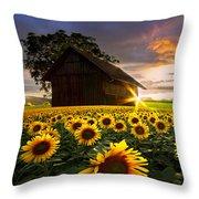 A Sunflower Moment Throw Pillow