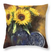 A Sunflower Smile Throw Pillow