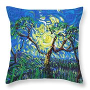 A Sunny Day For The Tree Throw Pillow