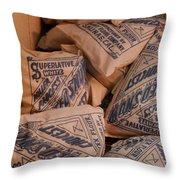 A Supply Of Flour Throw Pillow