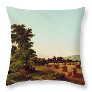 A Surrey Cornfield Throw Pillow by Walter Williams