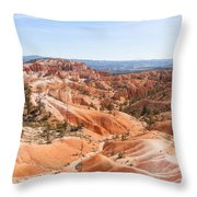A Sweeping Vista At Bryce Canyon  Throw Pillow