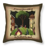 A Sweet Friendship Throw Pillow