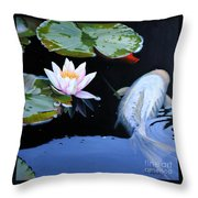 A Swim By Throw Pillow