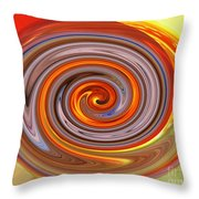 A Swirl Of Colors From The Sun And Earth Throw Pillow