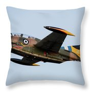 A T-2e Buckeye Trainer Aircraft Throw Pillow