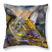 A Tale Of Two Worlds Throw Pillow