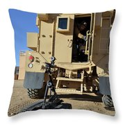 A Talon Mark 2 Bomb Disposal Robot Throw Pillow
