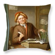 A Tax Collector, 1745 Throw Pillow by Tibout Regters