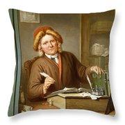 A Tax Collector, 1745 Throw Pillow