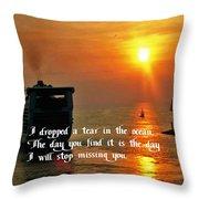 A Tear In The Ocean Throw Pillow