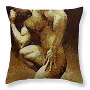 A Thinker Throw Pillow