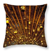 A Thousand Candles - Tunnel Of Light Throw Pillow