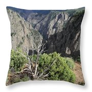 A Thunderstorm Is Approaching Over The Black Canyon Throw Pillow