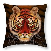 A Tiger's Stare Throw Pillow