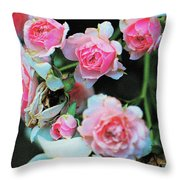 A Time For Roses Throw Pillow