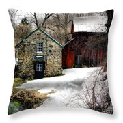 A Time Passing Throw Pillow