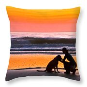 A Time To Bond Throw Pillow