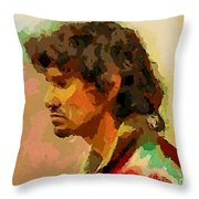 A Tired Fisherman Throw Pillow