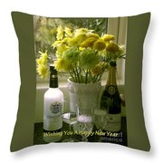 A Toast Of Cheers For The New Year Throw Pillow