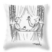 A Toast To Everyman And The Human Condition Throw Pillow