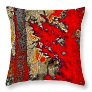 A Touch Of Autumn Abstract Vii Throw Pillow