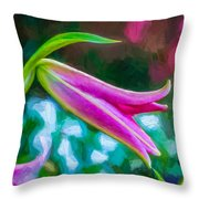 A Touch Of Class 2 - Impasto Throw Pillow