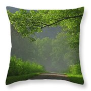 A Touch Of Green Throw Pillow