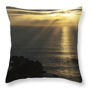 A Touch Of Heaven Throw Pillow by Sandra Bronstein
