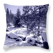 A Touch Of Snow In Lavender Throw Pillow