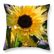 A Touch Of Sunflower Throw Pillow