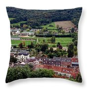 A Town In France Throw Pillow