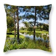 A Tranquil Pond At Walt Disney World Throw Pillow