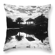 A Tranquil Scene In Hawaii Throw Pillow