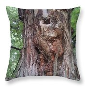 A Tree Creature Throw Pillow