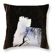A Tree In A Square Abstract Throw Pillow