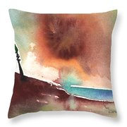 A Tree In Lanzarote Throw Pillow
